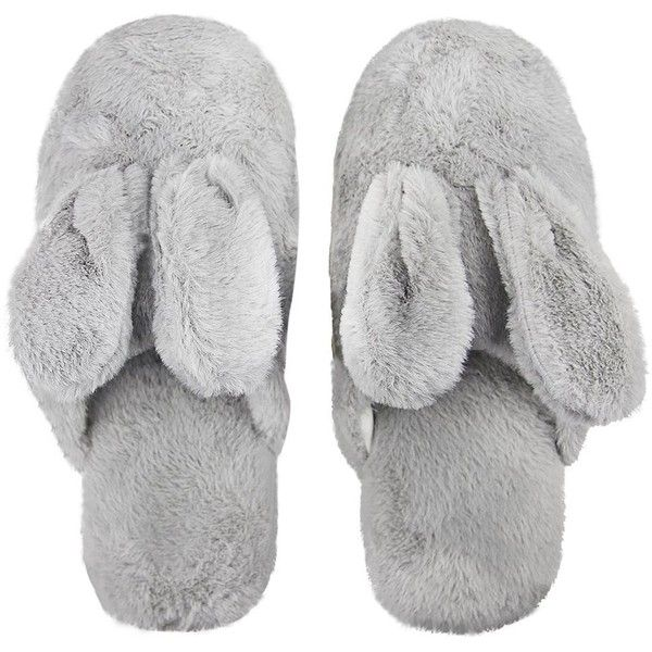 Adults Thermal Plush Winter Slippers Rabbit Ears Thicken Warm Slip-on... ($7.50) ❤ liked on Polyvore featuring men's fashion, men's shoes, men's slippers, mens wide width shoes, mens wide width slippers, mens wide fit slippers, mens wide shoes and mens wide fit shoes