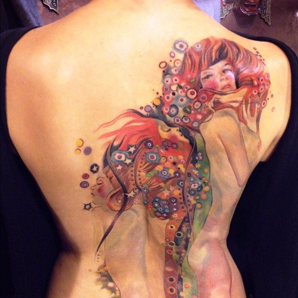 tattoo by amanda wachob Painting, Acqua Mossa' by Gustav Klimt. My favorite
