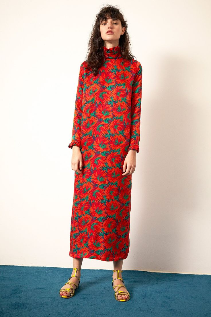 Dresses For Women, Long Dresses, Floral Dresses, Women's Dresses, Printed  Dresses, Fashion Dresses, Red Floral Dress, Modest Fashion, Urban Outfits