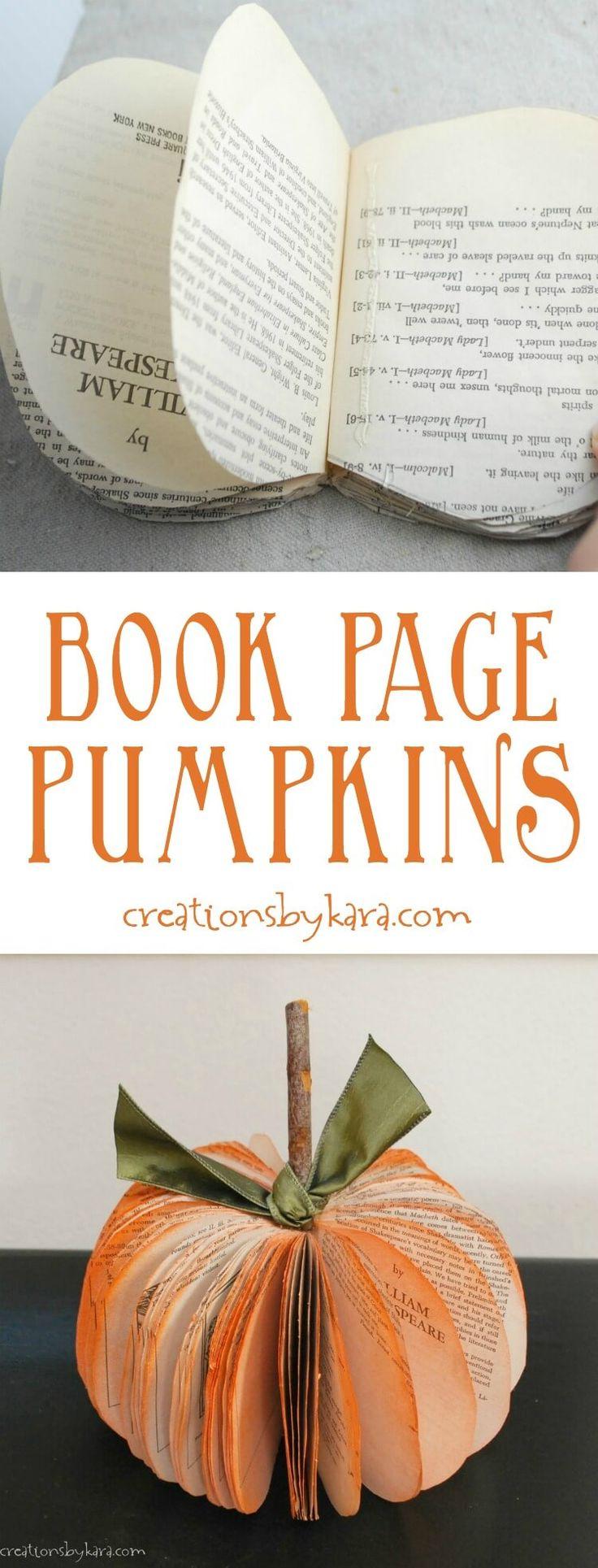 Книжкова сторінка гарбузового осіння ремесла