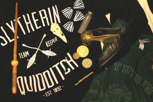 Draco // Albus // Scorpius // Slytherin Quidditch