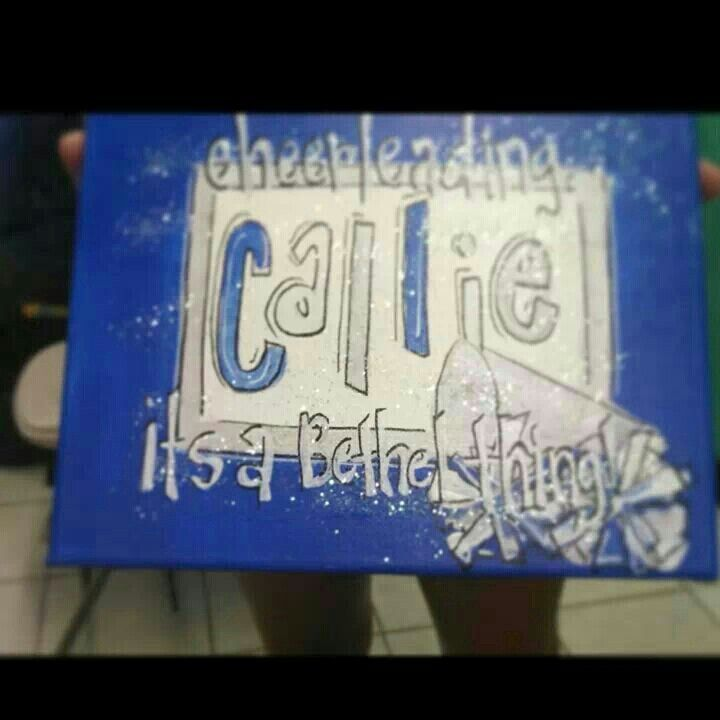 14 best cheer canvas paintings images on Pinterest