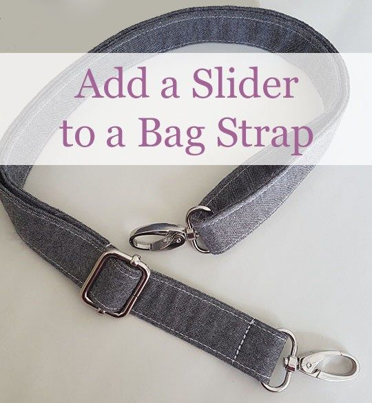 add a slider to a handmade bag Free sewing pattern