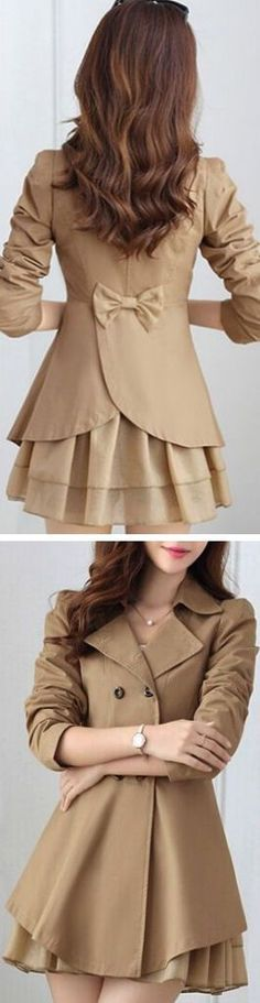 Bow Back Trench Coat ❤︎