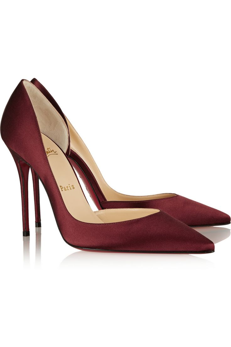 christian louboutin patent leather d\u0026#39;Orsay pumps Burgundy ...