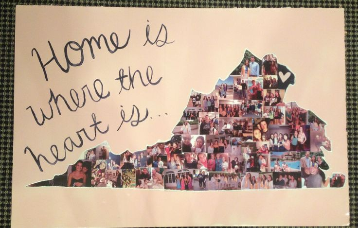 For the dorm room... DIY state collage