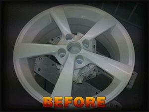 An alloy wheel before hydrographic dipping