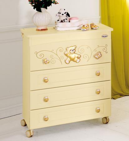 Baby Expert Пеленальный комод Ceramics Perla крем/золото  — 62690р.  Пеленальный комод  Perla крем/золотой