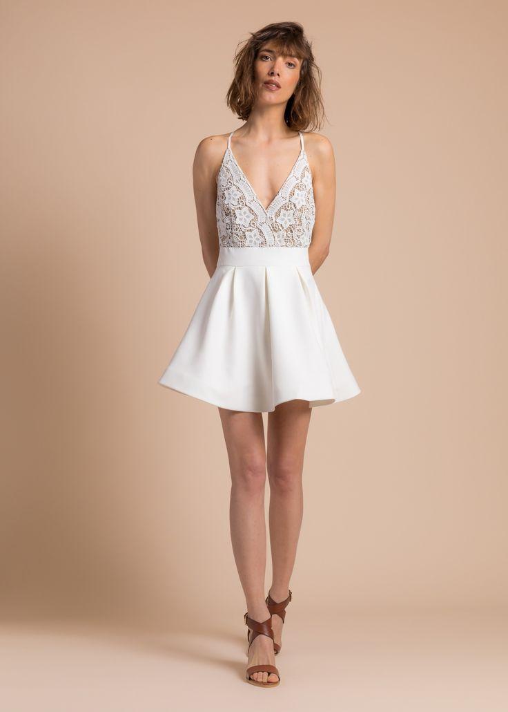 Collection PE 17 | La petite étoile robe patineuse  détail broderie casual wear  casual chic