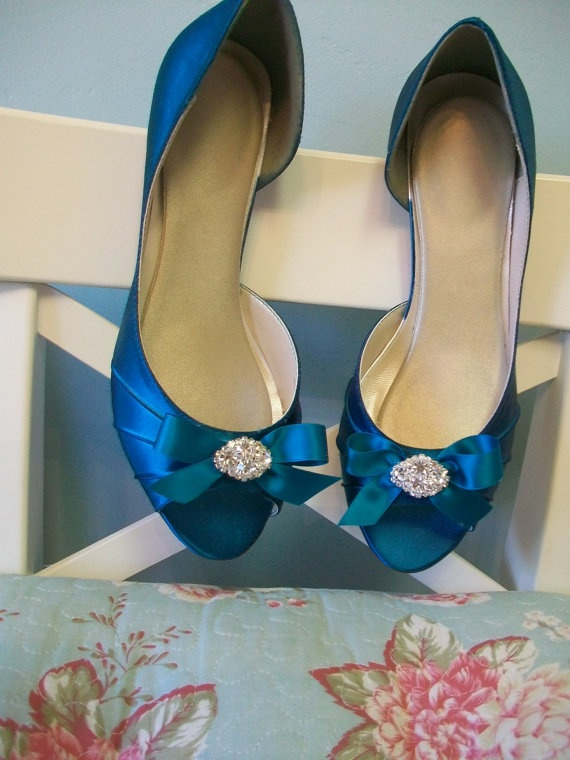 Such Cute Blue Shoes For The Wedding