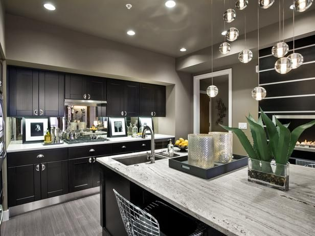 """""""Kitchen design, more than anything, is about functionality, especially in condos,"""" says Lindsay Pumpa. """"So I wanted to make sure we kept the three key elements — sink, dishwasher, cooking area — all within a triangle balance. This allows for logical accessibility, which makes being in the kitchen a pleasure as opposed to a hassle."""""""
