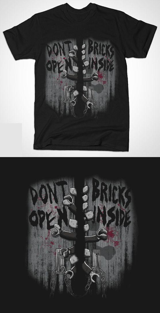 The Walking Dead Lego T Shirt | Don't open - Bricks inside. Shirt for zombie fans |  Visit http://shirtminion.com/2015/05/the-walking-dead-lego-t-shirt/