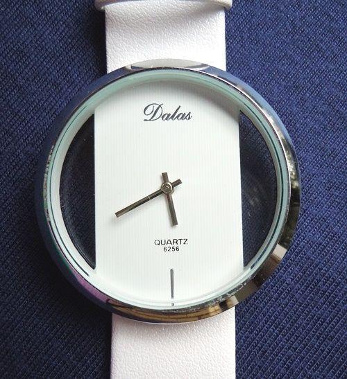 relógio branco transparente - 1up tralhas
