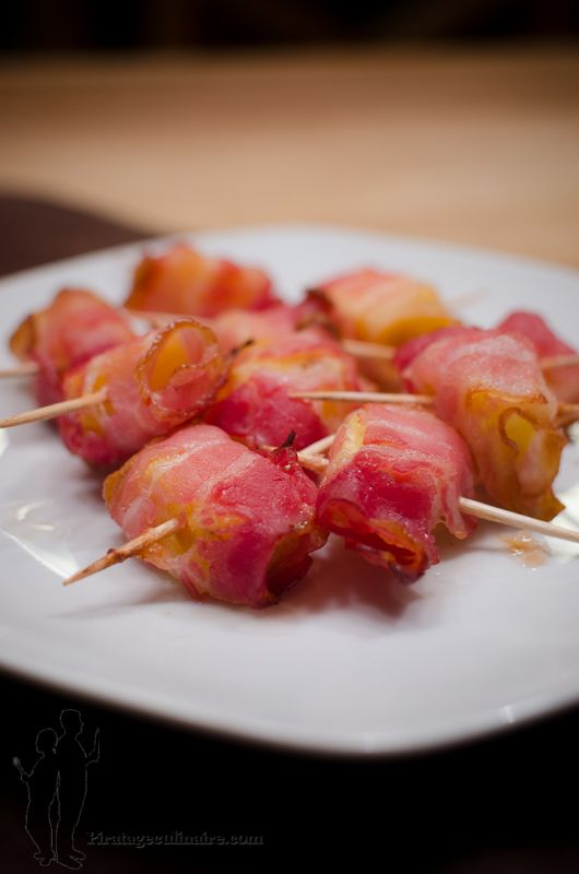Brochettes d'ananas au bacon | Piratage Culinaire