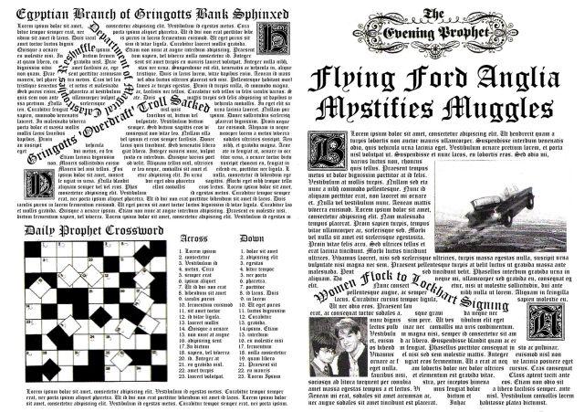 Page de la gazette du sorcier                                                                                                                                                                                 Plus