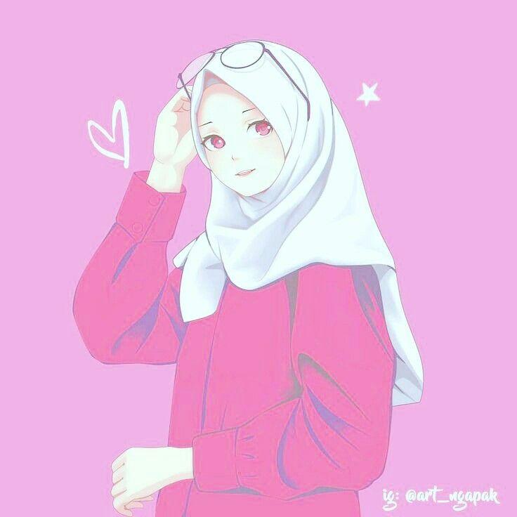 Hijabers Ilustrasi Karakter Animasi Seni Islamis