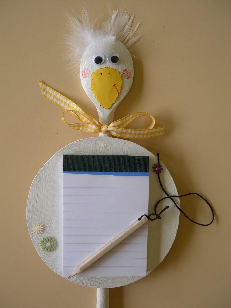 memo avec cuillère en bois