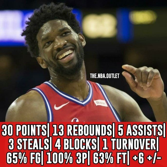 JOJO There were gone very impressive performances last night but this is my Performance of the Night. You may ask Where's Curry? But he had more turnovers than Embiid. If Embiid played an entire NBA season without injuries would he be the best Center in the league? Follow me @the.nba.outlet for more great content. #phila #philadelphia #pennsylvania #philadelphiapennsylvania #joel #embiid #joelembiid #bensimmons #sixers #76ers #76