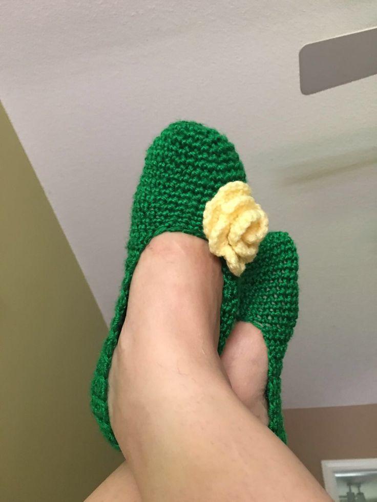 Mis zapatillas tejidas
