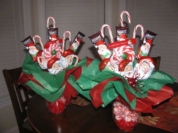 how to make a christmas candy bouquet