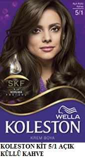 Koleston 2017 Saç Renk Kartelası - Koleston açık küllü kahve saç boyası