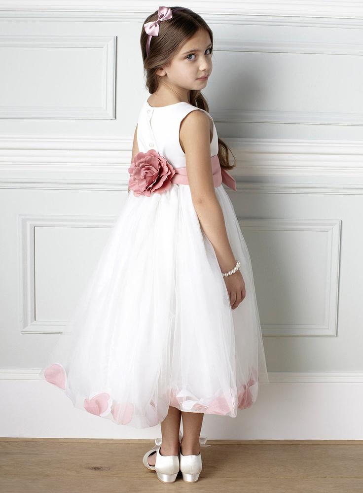 Fleur Petal Dusky Pink Bridesmaid Dress - young bridesmaids - Wedding - BHS