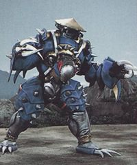Mace Face is a spiked robot monster used by the Machine Empire. He had two forms: his regular spiked monster form, and the form of a spiked ball. He was the first monster to be destroyed by the Zeo Mega Battlezord.Brother, Can You Spare an Arrowhead? He was later seen as an audience member in Prince Gasket's Machine Arena.King for a Day