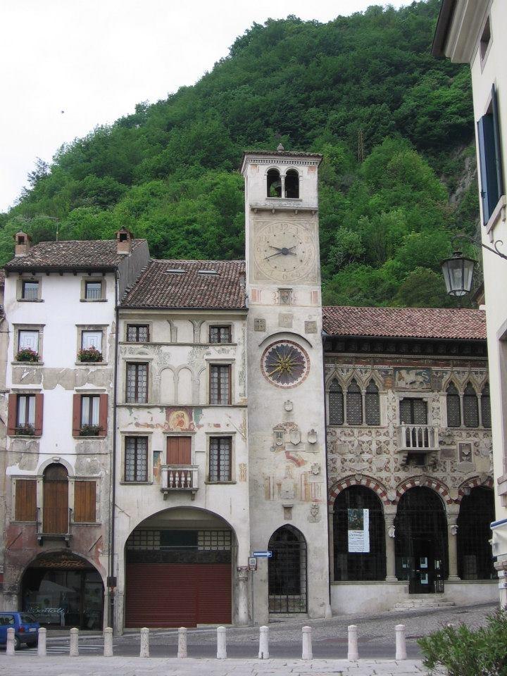 Torre dell'orologio di Serravalle - Vittorio Veneto e poi un salto in Trattoria alla Cerva...