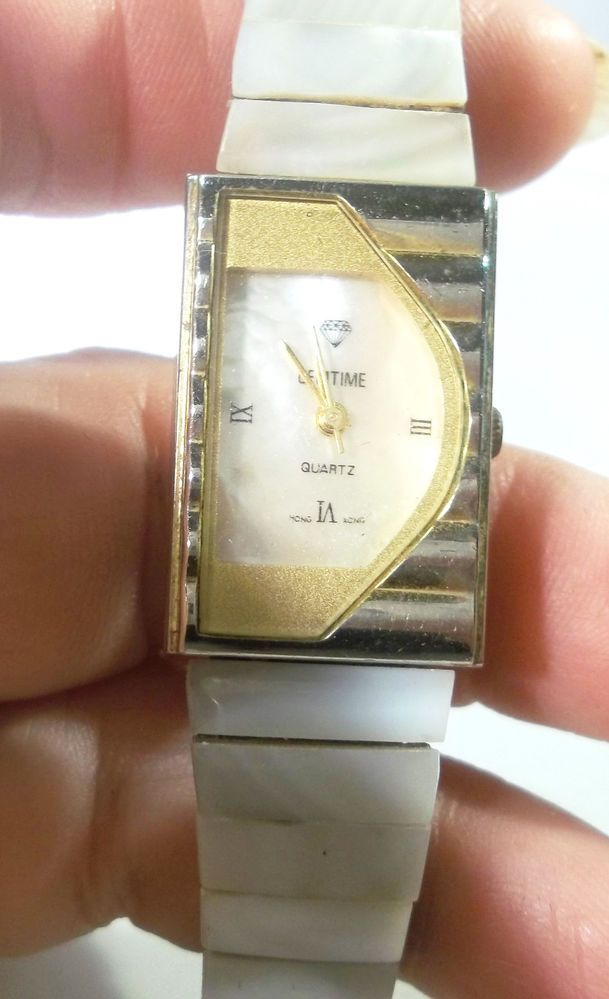 Mother of Pearl Face Band Gemtime Brand Quartz Watch Hong Kong, 1362 #Fashion