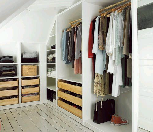 Attic Closet Design Ideas: An Attic Closet I Think I Need This To Hold All My Clothes