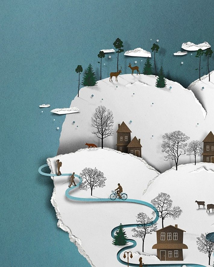 Today we are going to share Eiko Ojala's Papercut Illustration work, He is a graphic designer and illustrator. He continued his creative 3D Papercut drawings,