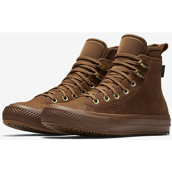 Converse Chuck Taylor All Star Waterproof Nubuck High Top Women s... ( 130)  ❤ liked on Polyvore featuring shoes af54214ecc7