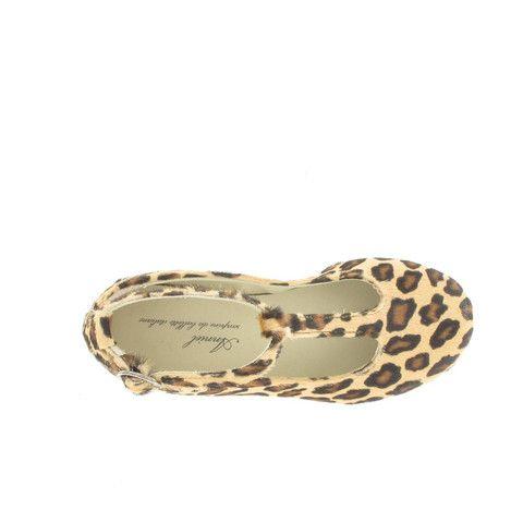 Anniel Ballerinas T Strap Pony Skin Leopard Girls www.myfashiontribu.com