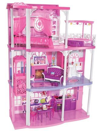 Barbie's brownstone, aka dream house. I just found this exact same one at the thrift store for only $6 bucks for my daughters! It didn't have any of the furniture but they are loving it!!!! :0)
