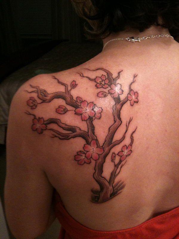 36 cherry blossom tree tattoo back http://hative.com/cute-cherry-blossom-tattoo-design-ideas/