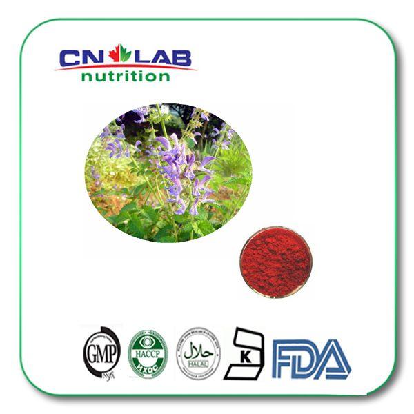 200g/lot 20% Antifatigue Salvia miltiorrhiza Extract powder