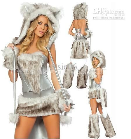 Wholesale cheap party dresses online, sexy costumes - Find best newest sexy furry fasching wolf cat girl halloween costume cosplay fancy party dresses full set xmas at discount prices from Chinese sexy costumes supplier on DHgate.com.