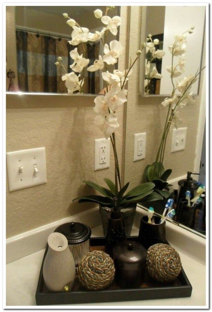 40 fantastic apartment decorating bathroom countertop - Home interior decoration ideas ...