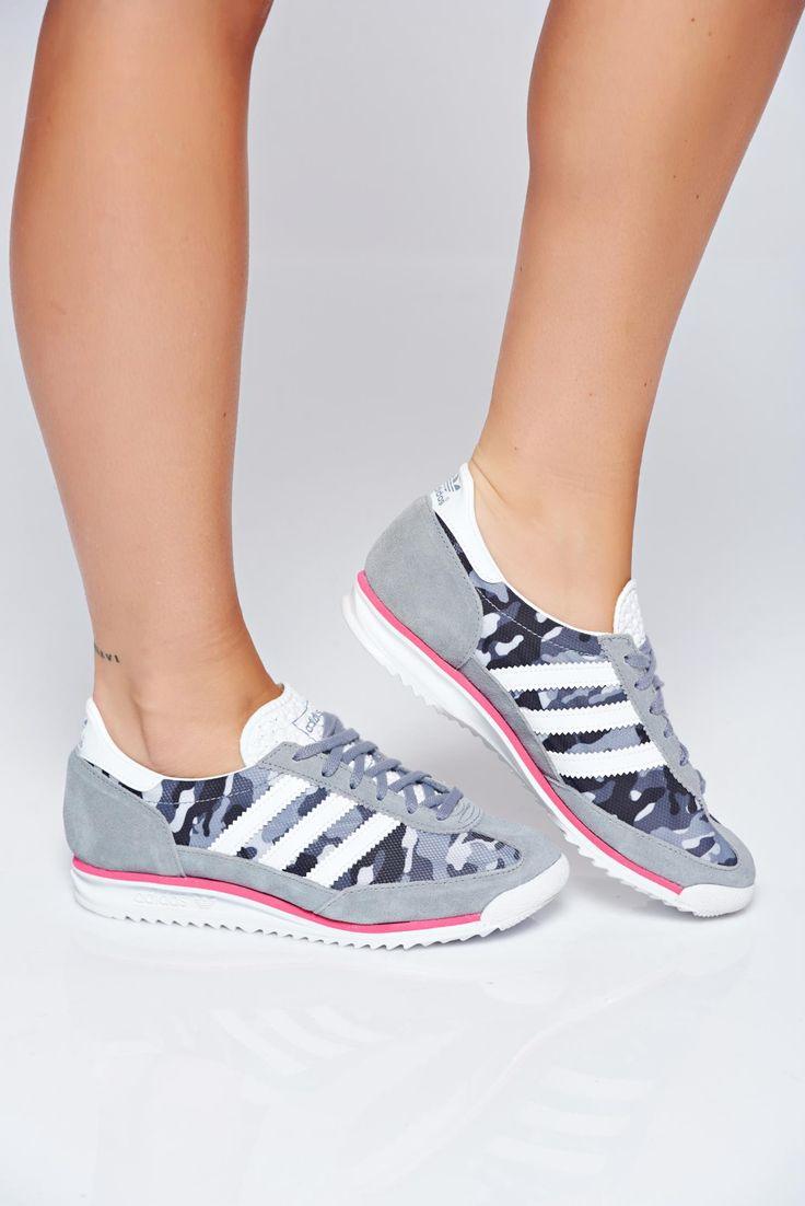 Comanda online, Pantofi sport Adidas Originals gri casual cu print. Articole masurate, calitate garantata!