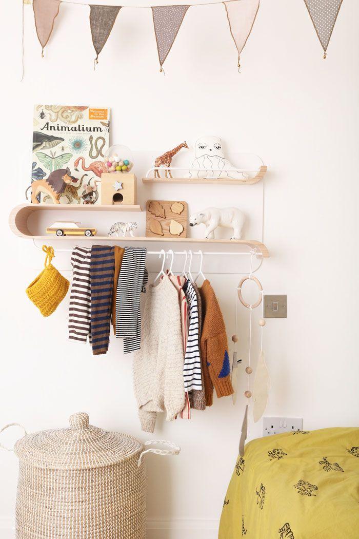 Clothes rack for children's rooms - Rafa-kids L shelf