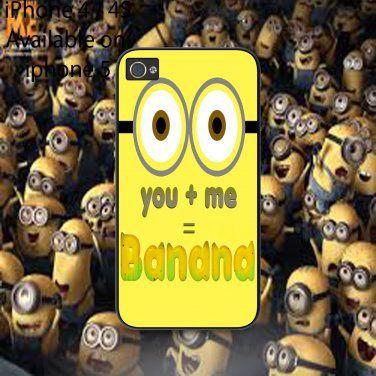 iphone 4/4s case minion banana on Wanelo