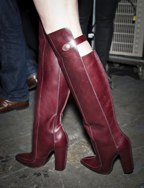 : Fashion Weeks, Equestrian Boots, Wang Boots, Red Boots, Fall 2012, Riding Boots, Fall Boots, Alexander Wang, Fall Fashion Trends
