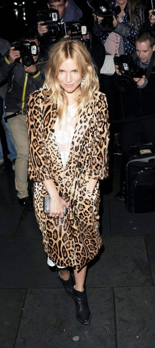 Metro Photography thinks that this leopard print coat is simply divine. Pair up with black skinny jeans and a black turtleneck and grab attention!