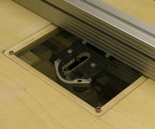 Simple Tilting Router Table Insert / Table Saw Extension - tutorial