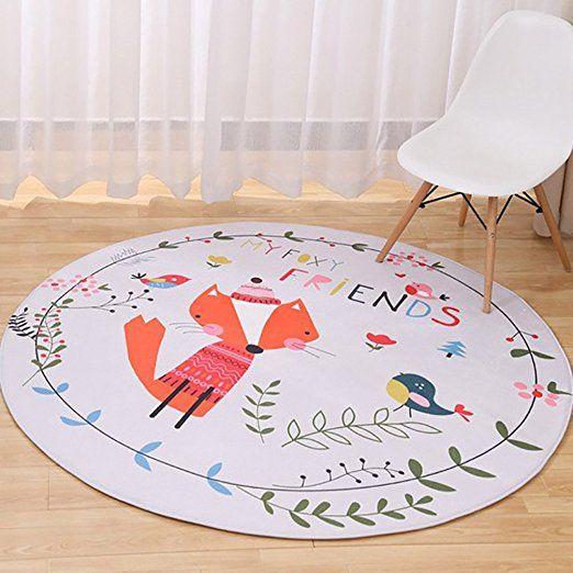 LvRao Nette Karikatur Matten Schlafzimmer Wohnzimmer Runde Teppich Fuchs Durchmesser: 90cm: Amazon.de: Küche & Haushalt