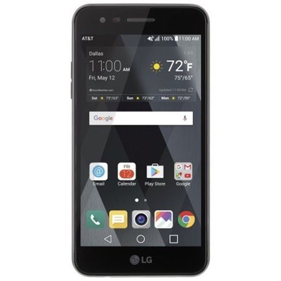 """Black AT&T Prepaid LG Phoenix 3 16GB Prepaid Smartphone 5"""" Display Screen Easy  #NA #Smartphone"""
