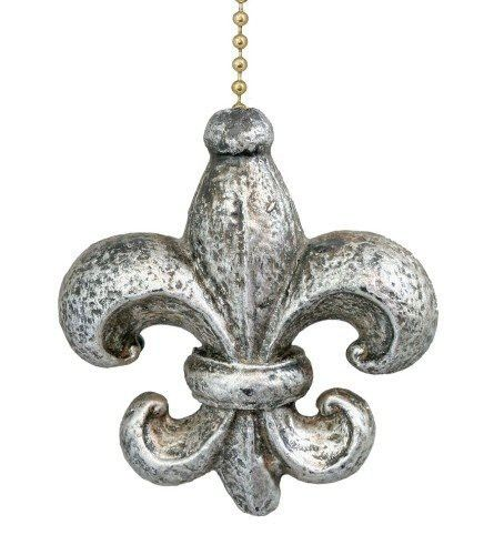 Elegant Fleur de Lis Ceiling Fan Light Pull by Clementine Design