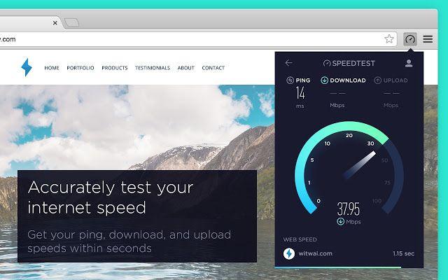 Speedtest сделали официальное расширение для Google Chrome. Налетай! https://chrome.google.com/webstore/detail/speedtest-by-ookla/pgjjikdiikihdfpoppgaidccahalehjh