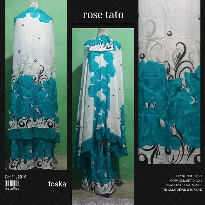 Mukena bali rose tato tersedia berbagai macam pilihan motif dan warna.  Ukuran standart dan jumbo Berat 500 g dan 600 g Harga Rp. 90.000 dan Rp. 100.000  Untuk pemesanan bisa langsung dari web toko silahkan klik ling di bawah ini.  http://ift.tt/2i7xue3