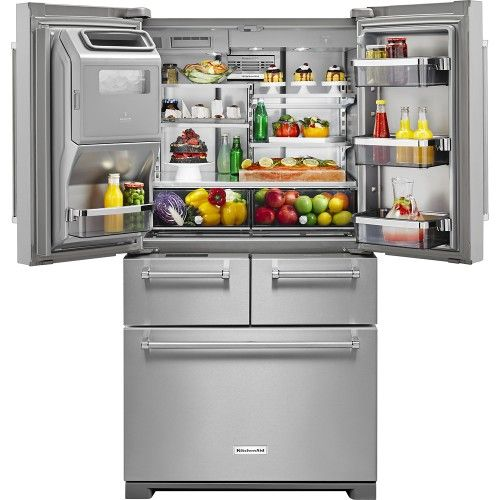 KitchenAid - 25.8 Cu. Ft. 5-Door French Door Refrigerator - Stainless Steel - AlternateView19 Zoom